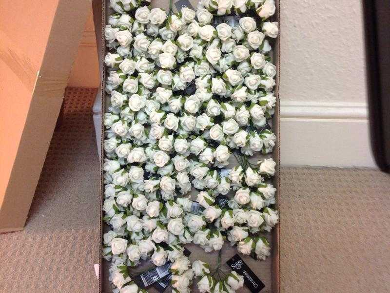 11cm Creamwhite Rose Artificial Joblot 48 in the box in total, Wedding, Table decor