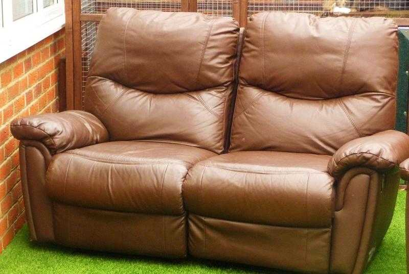 321 Seater Valencia Recliner Leather Sofa Suite