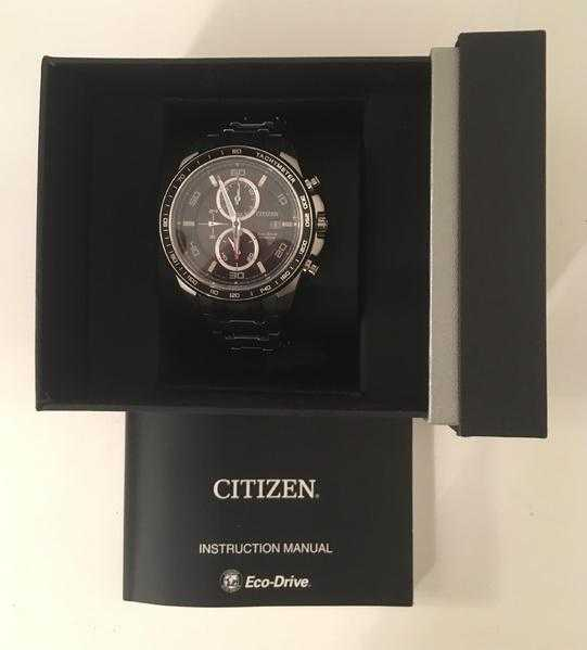 A GENUINE , BRAND NEW......MENS CITIZEN ECO-DRIVE TITANIUM CHRONOGRAPH WATCH CA0340-55E