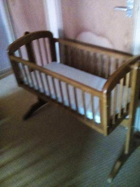 Baby crib with two new mattresses