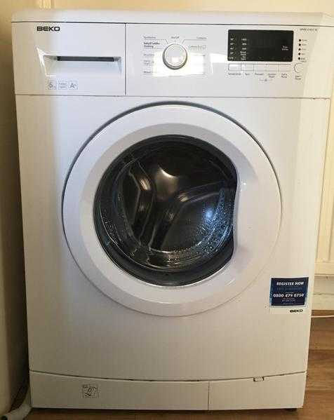 Beko WMB61431W 6kg 1400trmin A , LED, Front Load, stand-alone White Washing Machine