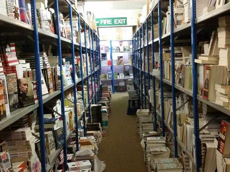 BOOK WAREHOUSE Open to the public . 70 Off Cover Prices.