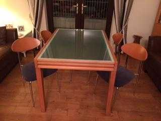 DINING ROOM SUITE -MAY SEPARATE-reduced price-SOLID WOODGLASS