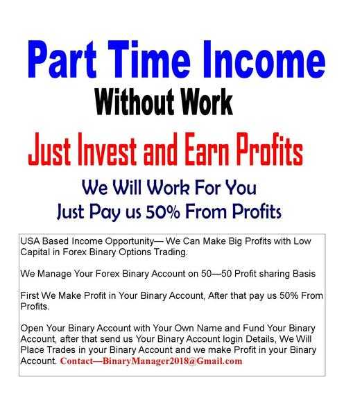 EARN BIG On Your Capital - USA Based Income Opportunity - Forex Binary Options Trading