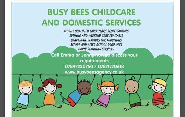 Evening and weekend childcare and domestic services