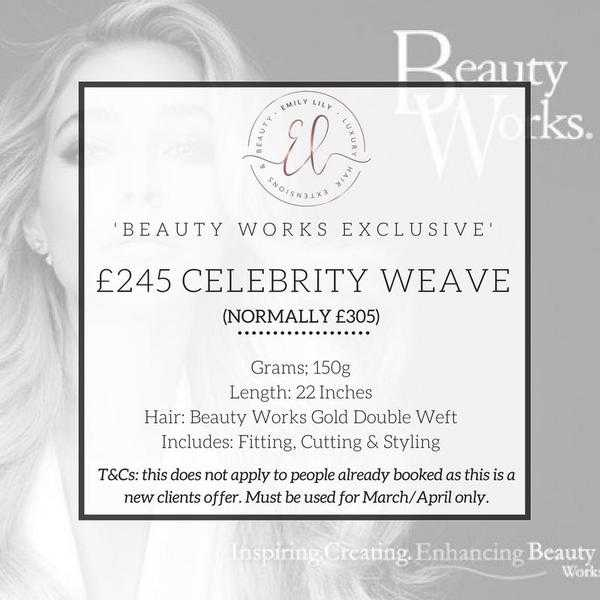 Exclusive Beauty Works Celebrity Weave Offer