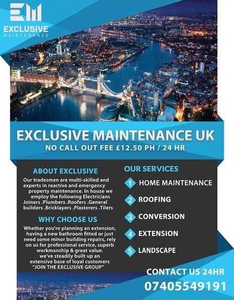 Exclusive maintenance uk