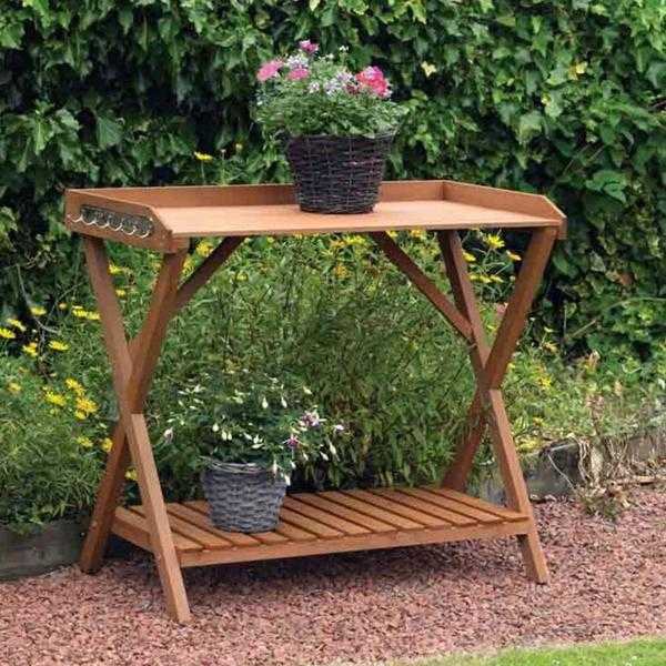 Extra Large Hardwearing Wooden Potting Table (NEW  FREE Local Delivery)
