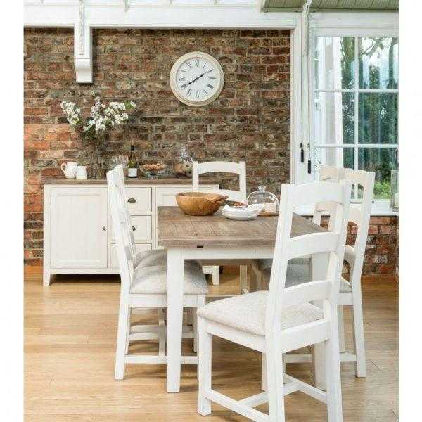 French Village Extending Dining Table and 4 Chairs