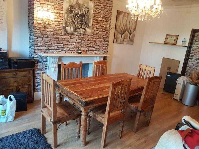 Hand Made Table with Chairs