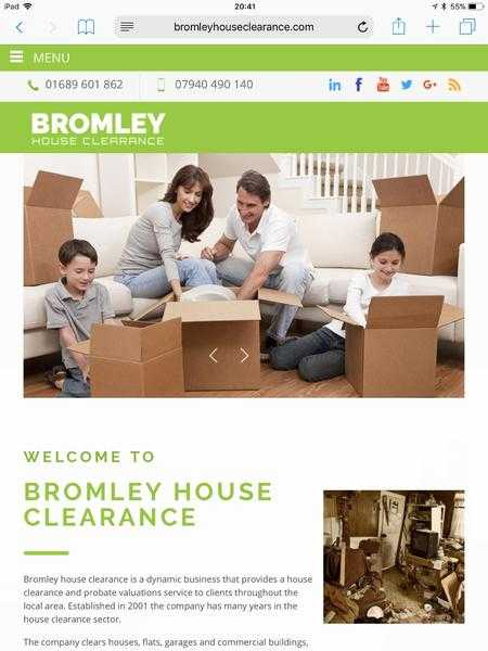 House clearance and Rubbish clearance in Bromley