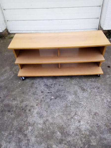 Ikea TV unit in beech