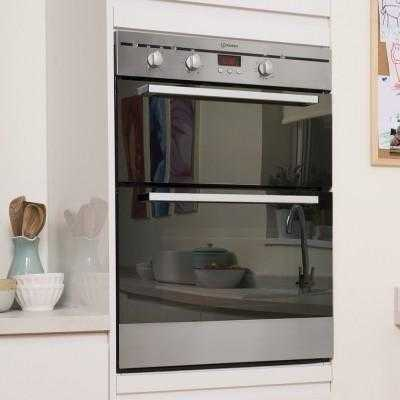 INDESIT FIMD 23 IX S DOUBLE OVEN - NEARLY NEW