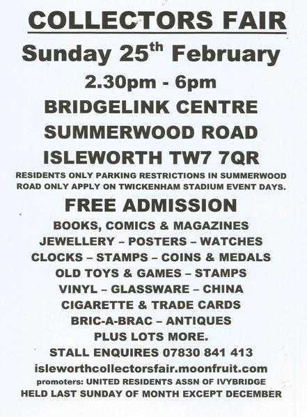 ISLEWORTH GENERAL COLLECTORS FAIR
