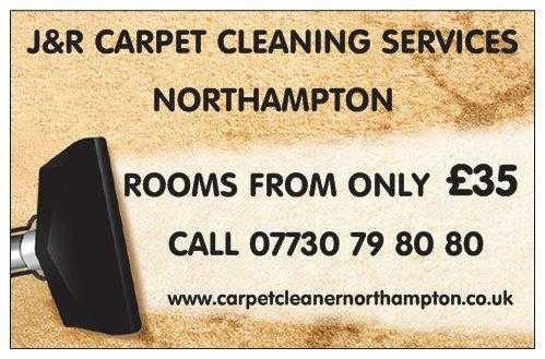 JampR Carpet Cleaning Northampton, Rooms Cleaned For 35, Call