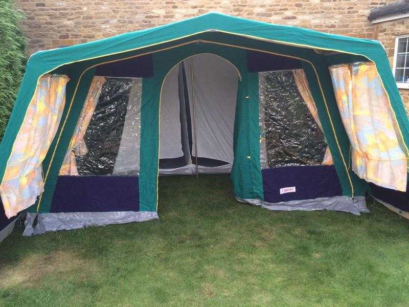 Marechal Luxury 4 person canvas frame tent ideal for families or couples & Marechal Luxury 4 person canvas frame tent ideal for families or ...