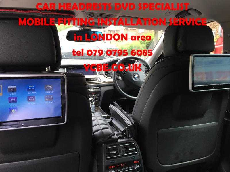 mobile CAR HEADRESTs SCREENs DVD FITTED (with SRS modul removal) London area