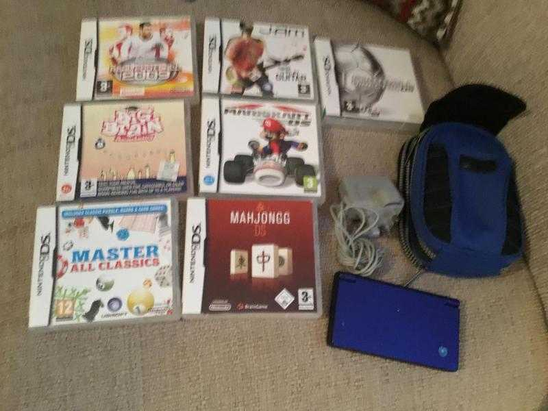 Nintendo Ds I console with games