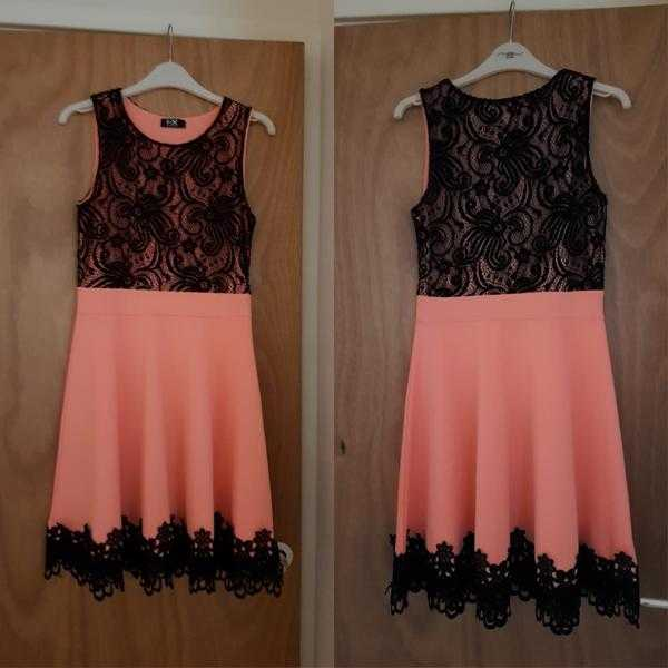 pale pink and black dress
