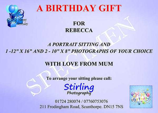 Personalised Portrait Gift Vouchers