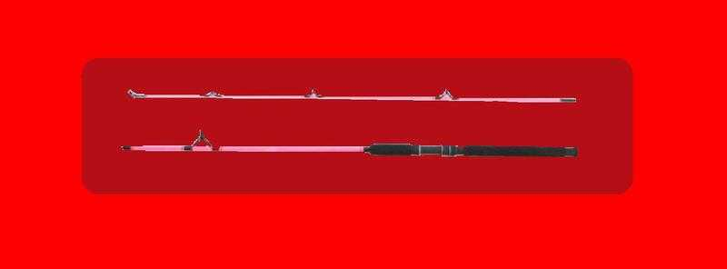 PINK SPACE CARP STALKING GLASS FIBRE 8039 ROD 2 Sections, 2 lb tc. BRAND NEW