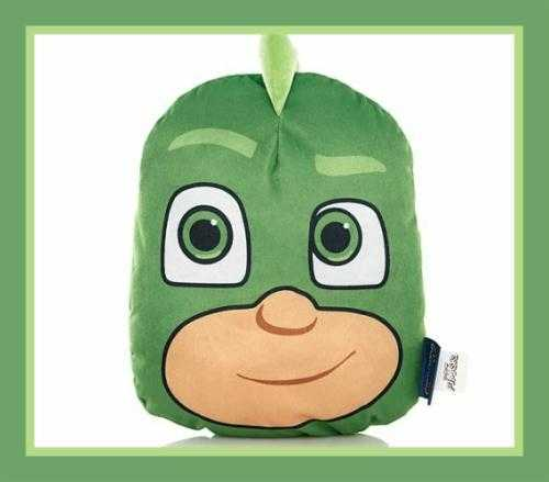 PJ Masks Gekko 3D character plush shaped cushions