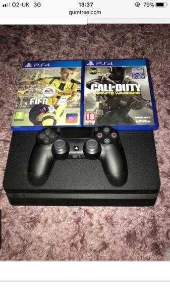 PlayStation 4 amp 2 Games-Call of duty amp FIFA 17