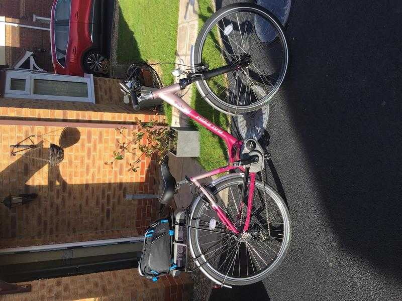 raleigh motus peer assisted bike nearly new only 61 miles done