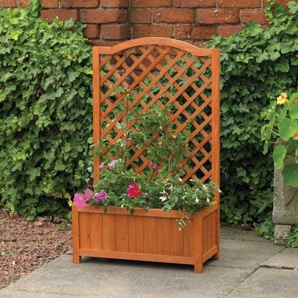 Rectangular Planter with Trellis (NEW  FREE Local Delivery)