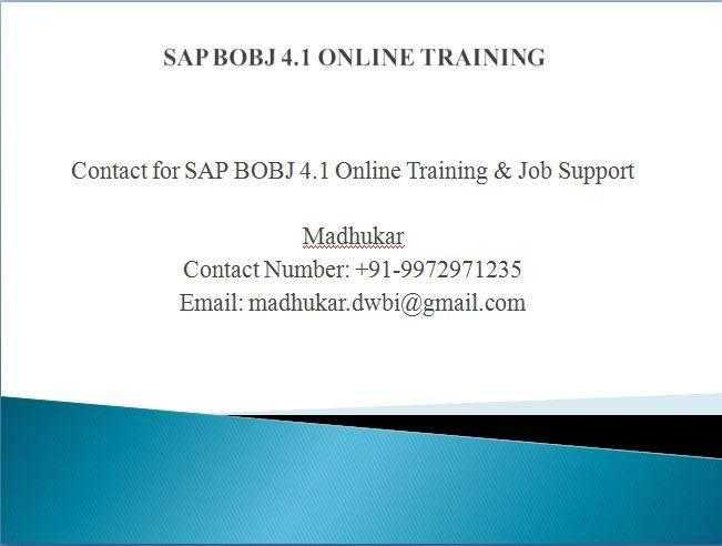 SAP Business Objects Online Training
