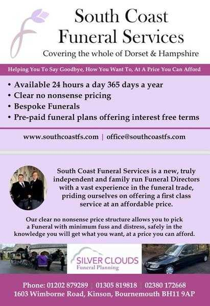 SOUTH COAST FUNERAL SERVICES (Bournemouth) All your Needs for Low Cost
