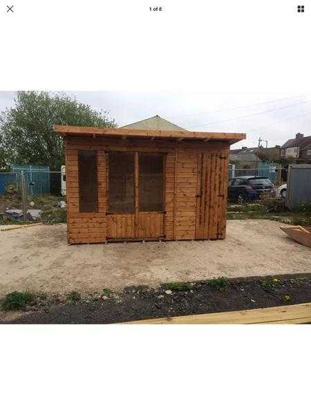 Summerhouse with Shed