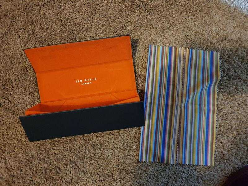 Ted Baker glasses case with cloth new