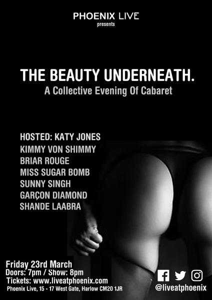 The beauty underneath a night of Burlesque and variety 23rd March