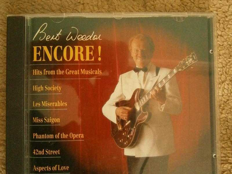 the late great BERT WEEDON 039ENCORE039 CD  18 tracks of some the best guitar music from hit musicals