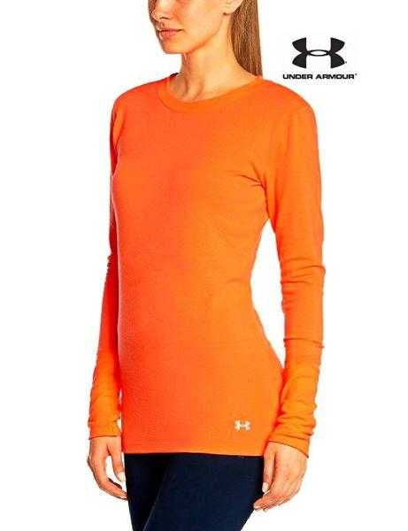 Under Armour Infrared Women039s Fitness Sports long sleeve Top ColdGear orange