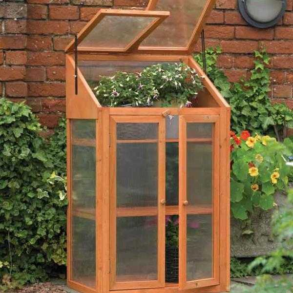 Wooden Flat Back Mini Greenhouse - New  FREE Local Delivery