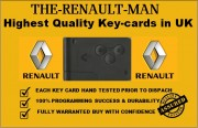 Renault key cards supplied and programmed 2002/2015.